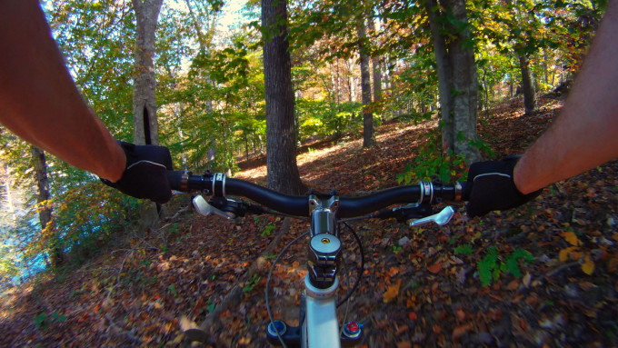 Biking-Lakeview-II-Trail-Pocahontas-State-Park-10-25-2012