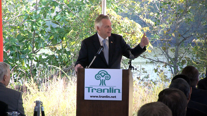 Tranlin Groundbreaking Governor McAuliffe